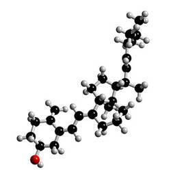 Strukturmodell von Vitamin D3